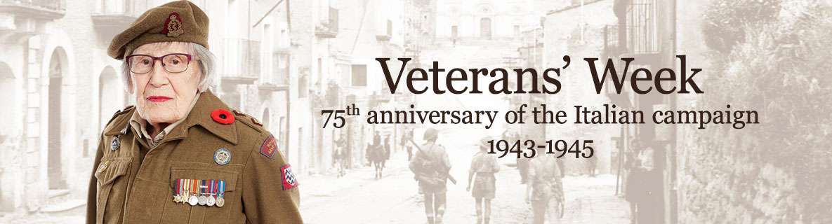 Veterans Week.  75th anniversary of the Italian Campaign.  1943-1945.
