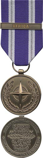 Non-Article 5 NATO Medal for North Atlantic Council Approved NATO operations and activities in relation to AFRICA