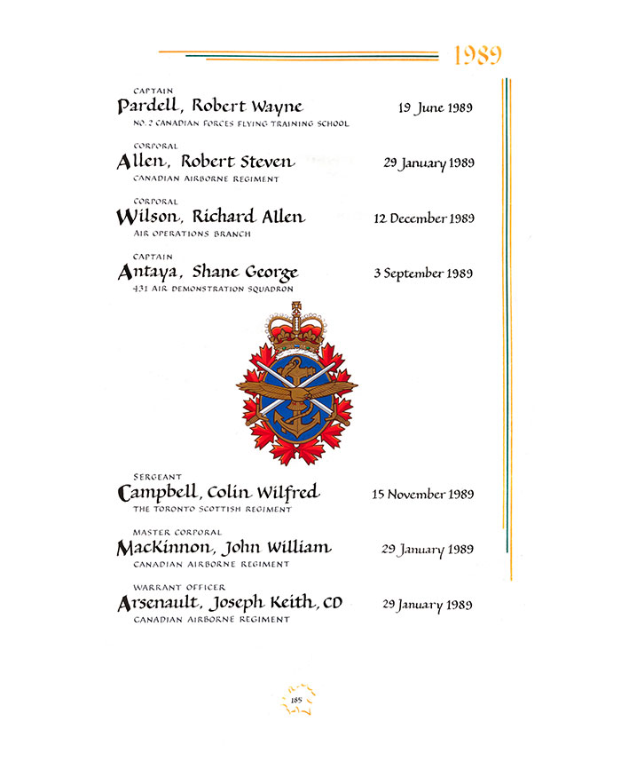Page 185 - In the Service of Canada (1947 – 2014)