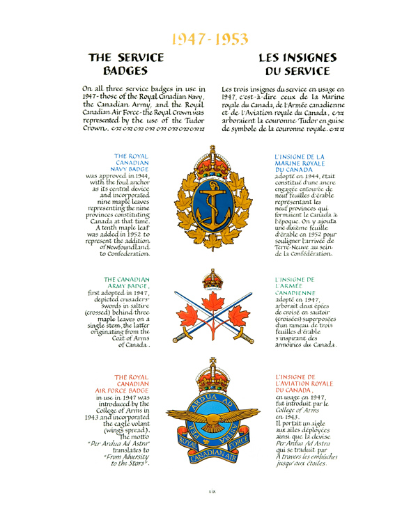 The Service Badges: 1947 to 1953 - In the Service of Canada (1947 – 2014)