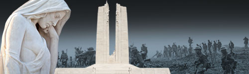 Vimy Memorial and First World War soldiers