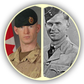 Corporal Dustin Wasden and his uncle Private Harold Wasden.