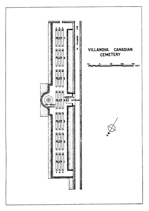 Villanova War Cemetery Map
