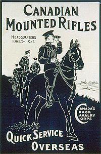Canadian Mounted Rifles – Quick Service Overseas.