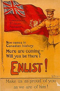 Enlist! New names in Canadian history. More are coming. Will you be there?