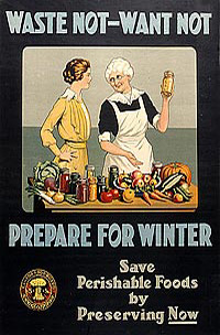 Waste Not – Want Not. Prepare for Winter.