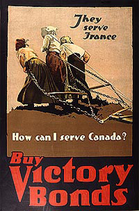 Buy Victory Bonds. They serve France. How can I serve Canada?