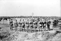 Memorial Service to men of 87th Battalion who fell at Vimy Ridge, September 1917.