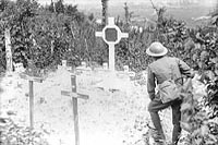 Canadian graves on Vimy. July 1917.