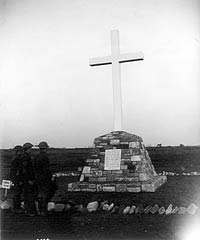 Memorial erected to the soldiers of the 1st Canadian Division who fell during the taking of Vimy Ridge, February 1918.