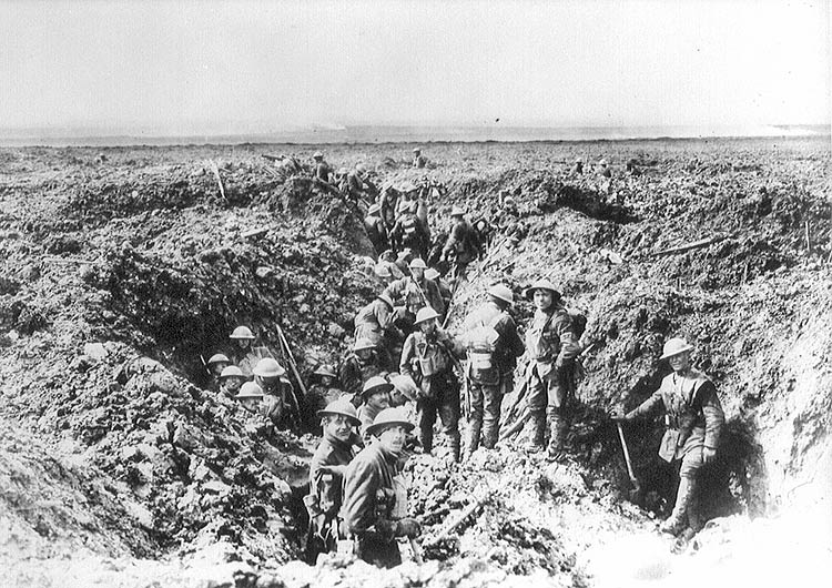 Vimy trenches Canadians