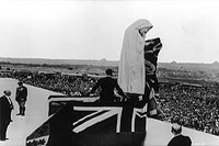 His Majesty King Edward VIII unveiling the Figure of Canada on the Vimy Ridge Memorial.