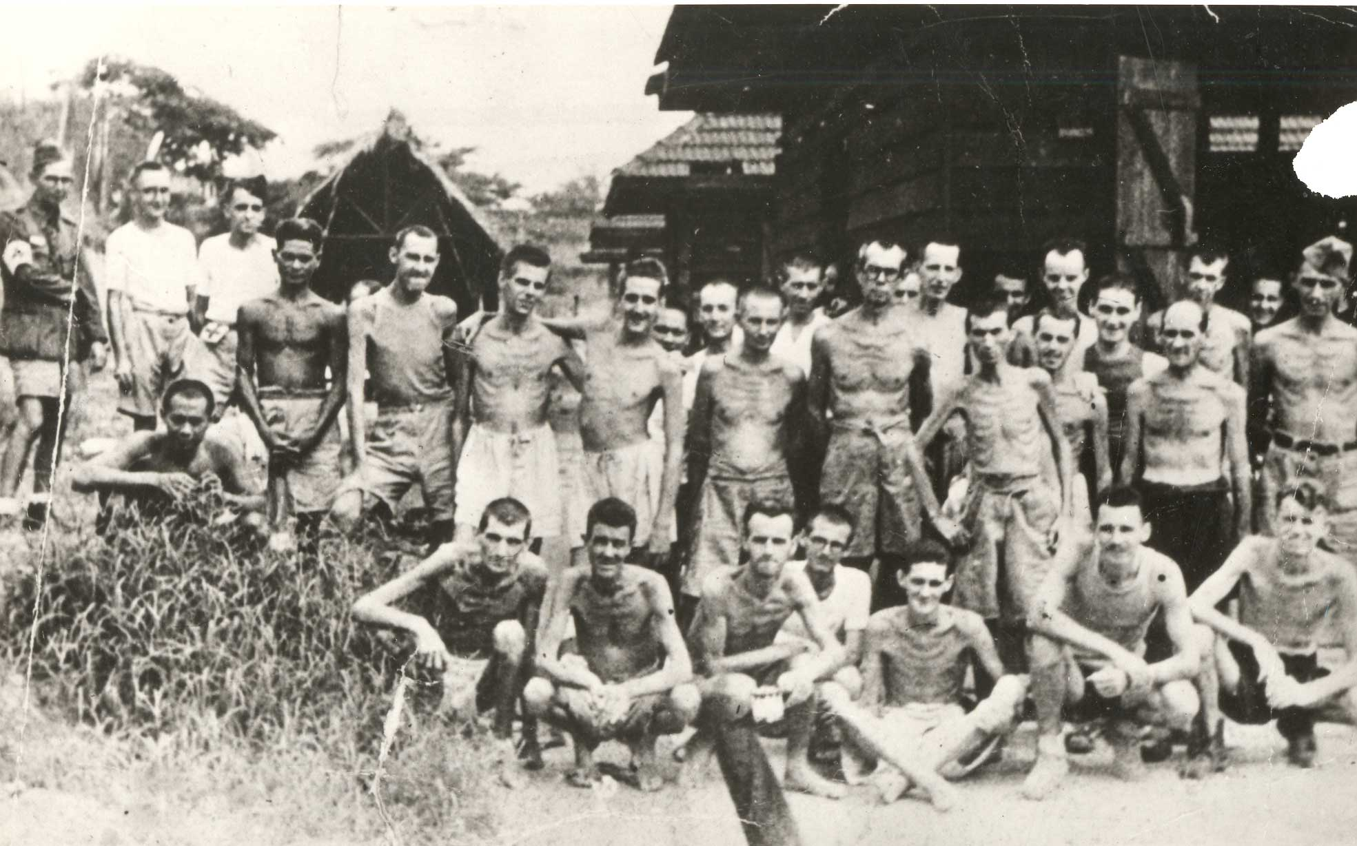 Canadian prisoners of war in a Japanese POW camp.