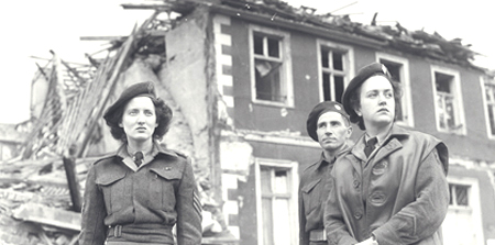 Members of the first contingent of <abbr title='Canadian Women's Army Corp'>C.W.A.C</abbr>. personnel to enter Germany.