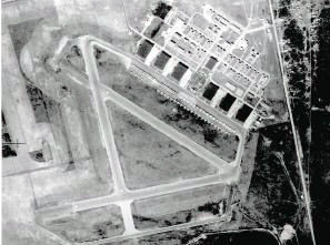 Aerial view of #5 Bombing and Gunnery School
