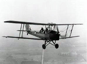 A de Havilland Tiger Moth aircraft