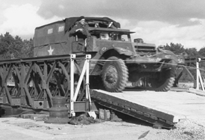International halftrack crossing Albert Canal, September 1944. <em>(Library and Archives Canada PA-114574)</em>